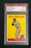 Pittsburgh Pirates Roberto Clemente 1958 Topps #52 PSA NM 7 White Letters