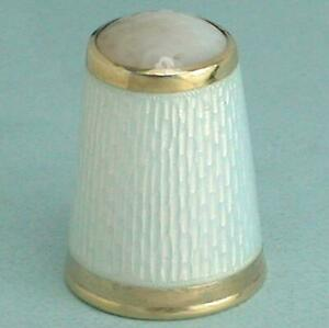 Antique Norway Enameled Gilded Sterling Silver Thimble by Marius Hammer * C1900s