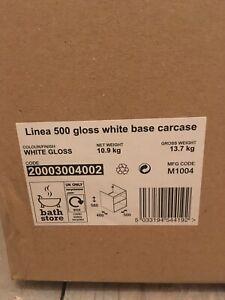 Linea 500 Gloss White Base Carcase