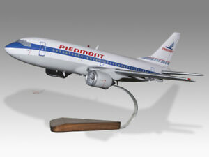 Boeing 737-300 Piedmont Airlines Solid Mahogany Wood Handcrafted Display Model