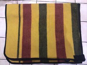 Beautiful 4'6 Heavyweight Newmarket Wool Witney Exercise Sheet Blanket Gold Full