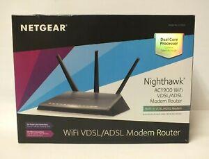 NETGEAR Nighthawk Ac1900 Wireless ADSL VDSL Modem Router WiFi (Hal)