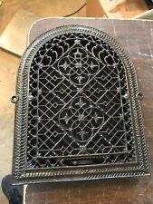 A6 antique arch top heating grate 11.25 x 14 5/8""