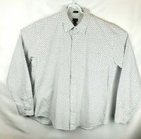 J Crew Mens XL Slim Untucked Oxford Long Sleeve Button Down Shirt White Floral