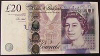 B412 CLELAND 2015 £20 BANKNOTE * KK22 1728-- * aUNC *