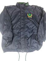 Retro Men's Medium Ireland Full Zip Windbreaker Jacket Badger Sports Blue