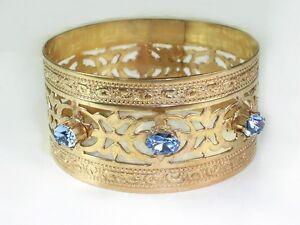 Exotic Hawaiian Vintage Bangles Real Gold Filled 1-20 14K / 1.25 w Sturdy Bangle