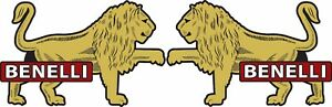 Benelli Lion Decals 4 inch Vintage Benelli Riverside Stickers Left & Right