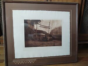 Edward S Curtis Original Photogravure, Vellum Paper, Watermarked In Frame