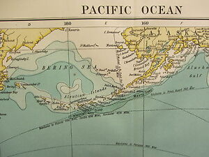 1919 LARGE MAP ~ PACIFIC OCEAN ROUTES AUSTRALIA EAST INDIES MEXICO WEST INDIES