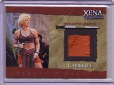 Xena Renee O'Connor GABRIELLE commemorative VARIANT costume card #GC3 /500 pic#9