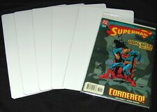 """(30) White Comic Book Full Dividers Bin Index Cards Standard 30 Mil Thick 7""""x12"""""""