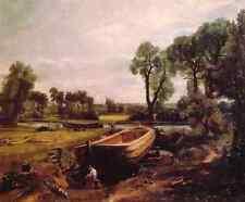 John Constable Boat Building A4 Print