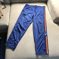 Para Hombre Nike Swoosh con logotipo de Vintage 90s Lateral a Rayas Chándal Pantalón Jogger Blue grandes