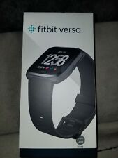 New Fitbit - Versa - Black Fitbit Smartwatch Anodized Aluminum