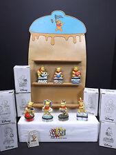 7 Disney Winnie the Pooh Trinket Box Ceramic Porcelain with wooden Holder