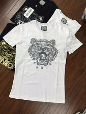 BNWT Fashion Embroider KENZO 'tiger embroidered T-shirt' White TEE  S