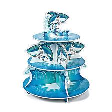 Shark Cupcake Stand BIRTHDAY pool party favor loot bag JAWS luau beach ocean