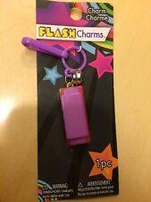 NEW Flash Charms Purple Harmonica 80s Music CLIP ON BELL CHARM Bracelet