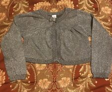 Carters Gray Sparkling Cardigan Sweater Girls  Size 5T