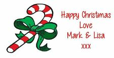 Personalised Christmas Label Stickers Tag Candy Cane Sweet cone Seal - 24