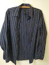 Axcess Claiborne Men's Button Shirt Size Large Classic Fit Purple Striped