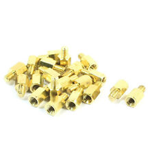 20 Pcs PC PCB Motherboard Brass Standoff Hexagonal Spacer M3 6+4mm T1