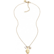 JF86444 NEW Fossil Ladies Gold Stainless Steel Necklace with locket & Beads £50