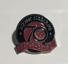 Ruger Firearms 70 Year  official Pin Badge/ RUGER GUNS/FIREARMS/PISTOLS