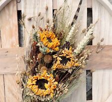 Dried Flower Bouquet Bunch Sunflowers Natural Preserved Farmhouse Chic Wedding