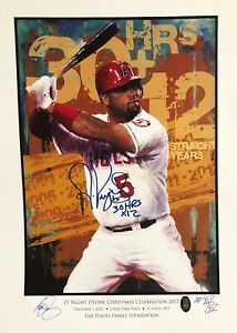 RARE! ALBERT PUJOLS SIGNED 2012 ARTIST PROOF - #15 0F ONLY 15