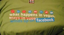 Mens TShirt What Happens in Vegas Winds up on Facebook XXL 100% Cotton