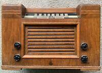 Vintage 1941 EMERSON - MODEL  456 Radio with wooden Ingraham Cabinet (1941)