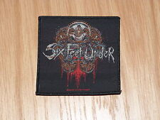 SIX FEET UNDER - THOU SHALL KILL (NEW) SEW ON W-PATCH OFFICIAL BAND MERCHANDISE