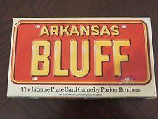 RARE VINTAGE - ARKANSAS BLUFF 1975 Parker Brothers License Plate Card Game