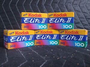 KODAK Ektachrome 100 Color Slide Film Lot 5 Rolls NOS Expiration 1999 36 Exp