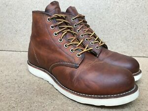 Red Wing 9111 Classic Round Toe Copper Rough & Tough Leather Boots - Size 8 D