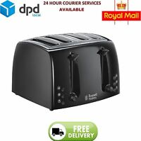 Russell Hobbs 21651 High Quality Stylish Four Slice Textures Toaster Black - New