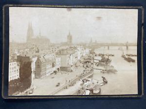 Allemagne, Köln, vue générale Vintage print. Carte cabinetTh. Creifelds, Photo