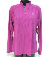 Laikus Dri-Release Merino Blend 1/4 Zip Neck Base Layer Thermal Top Large Pink