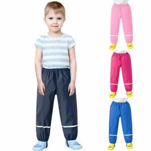 Children's Kids Rain Dungarees Mud Trousers Waterproof Breathable for Girls Boys