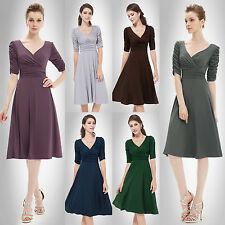 Short Sleeves Women Party Casual Prom Cocktail Club Gown Dresses 03632
