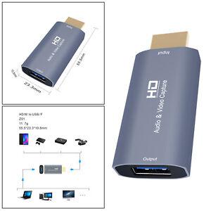 Audioaufnahmekarten HDMI Stecker auf USB 1080p Gaming Streaming Camcorder PC