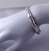 Tiffany & Co. Nature Rose Bangle Bracelet Sterling Silver RARE Vintage