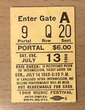 1968 PETER, PAUL, & AND MARY FOREST HILLS NEW YORK FESTIVAL CONCERT TICKET STUB