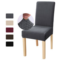 Stretch Dining Chair Cover Soft Fleece Slipcover Removable Seat Chair Protector