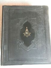 holy bible masonic edition, cyclopedic indexed, red letter edition, hertel, 1949