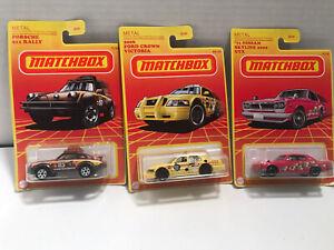 Lot of 3 Matchbox Target Retro Cars (2020) Ford #10, Porsche #7 (2021) Nissan #9
