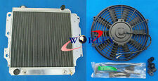ALUMINUM RADIATOR & FAN for JEEP WRANGLER YJ/TJ/LJ RHD 1987-2006 AT/MT MANUAL