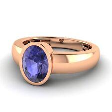 14k Rose Gold 1.1 Ct Natural Tanzanite 5mm Men's Engagement / Wedding Band Ring